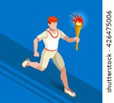 athletics torch bearer athletes ... | Shutterstock . vector #426475006