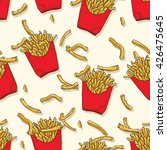 french fries seamless pattern | Shutterstock .eps vector #426475645