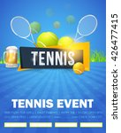 tennis event  flyer or poster...   Shutterstock .eps vector #426477415