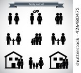 family icon set | Shutterstock .eps vector #426480472