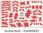 vector banner ribbons. set of... | Shutterstock .eps vector #426483832