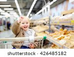 cute toddler boy sitting in the ...   Shutterstock . vector #426485182