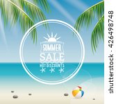 summer sale label | Shutterstock .eps vector #426498748