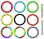 circle  ring. set of 9 colorful ... | Shutterstock . vector #426498916