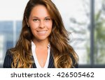 charming young businesswoman... | Shutterstock . vector #426505462