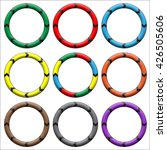 circle  ring arrow black. set... | Shutterstock . vector #426505606