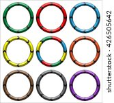 circle  ring arrow black. set... | Shutterstock . vector #426505642