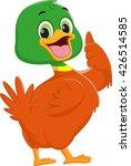 cute duck cartoon give thumb up   Shutterstock . vector #426514585