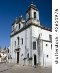 The Parish Church of Oeiras, near Lisbon built in the 18th century - stock photo