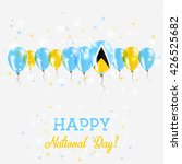 saint lucia independence day... | Shutterstock .eps vector #426525682