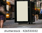 blank outdoor bus advertising... | Shutterstock . vector #426533332