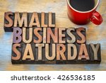 small business saturday word... | Shutterstock . vector #426536185