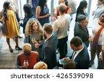business people meeting eating... | Shutterstock . vector #426539098