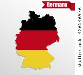germany map with germany flag... | Shutterstock .eps vector #426546976