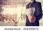 double exposure of businessman... | Shutterstock . vector #426550072