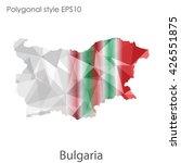 bulgaria map in geometric...   Shutterstock .eps vector #426551875