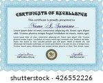 certificate template. detailed. ... | Shutterstock .eps vector #426552226