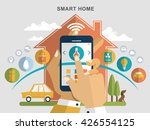 smart home flat design... | Shutterstock .eps vector #426554125
