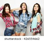 three best friends posing in... | Shutterstock . vector #426554662