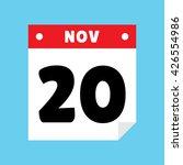 calendar icon flat november 20