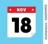 calendar icon flat november 18
