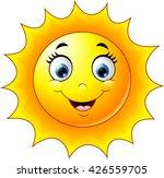 cute cartoon sun | Shutterstock .eps vector #426559705