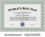 world's best dad award.... | Shutterstock .eps vector #426563305
