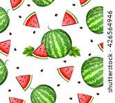 watermelon seamless pattern. | Shutterstock .eps vector #426564946