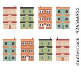flat design of buildings | Shutterstock .eps vector #426566932