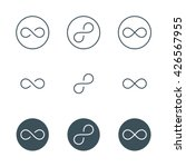 thin line infinity symbol or... | Shutterstock .eps vector #426567955