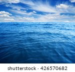 blue sea water surface on sky | Shutterstock . vector #426570682