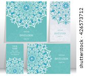 set of wedding invitation cards.... | Shutterstock .eps vector #426573712