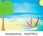 the sun and the sea | Shutterstock .eps vector #42657811