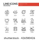 set of modern vector simple... | Shutterstock .eps vector #426580426