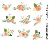 vector flowers set | Shutterstock .eps vector #426585112