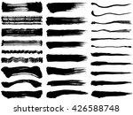 brush stroke illustrations.... | Shutterstock .eps vector #426588748