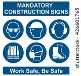 mandatory construction... | Shutterstock .eps vector #426601765