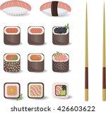 sushi set vector illustration   Shutterstock .eps vector #426603622
