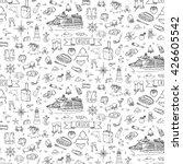 seamless background hand drawn... | Shutterstock .eps vector #426605542