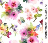 seamless pattern with flowers... | Shutterstock . vector #426605872