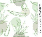 vector aloe vera hand drawn... | Shutterstock .eps vector #426610795
