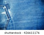 texture of denim and stitch for ... | Shutterstock . vector #426611176