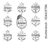 motivation quotes about lemons...   Shutterstock .eps vector #426619786