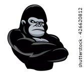 angry  gorilla icon.