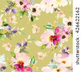 seamless pattern with flowers... | Shutterstock . vector #426622162