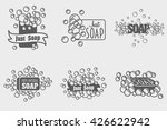 set of soap with foam logos or... | Shutterstock .eps vector #426622942