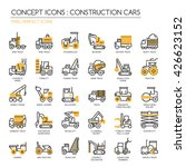 construction cars   thin line... | Shutterstock .eps vector #426623152
