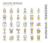 beverage   thin line and pixel... | Shutterstock .eps vector #426623302