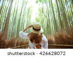 tourist at arashiyama bamboo... | Shutterstock . vector #426628072