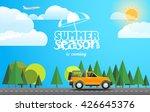 summer season flat design... | Shutterstock .eps vector #426645376